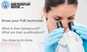 Doctor or Technician for Your FUE?