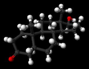 Dihydrotestosterone-3D-balls